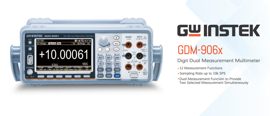 GW Instek New Product Introduction: GDM-906X High Precision Bench DMM